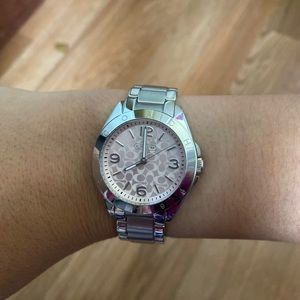 NWOT Coach Silver ladies watch